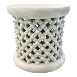 Bungalow 5 Modern Tribal White Kano Side Table For Sale