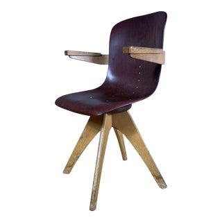 1950s Adam Stegner Pagwood Swivel Chair for Flötotto For Sale
