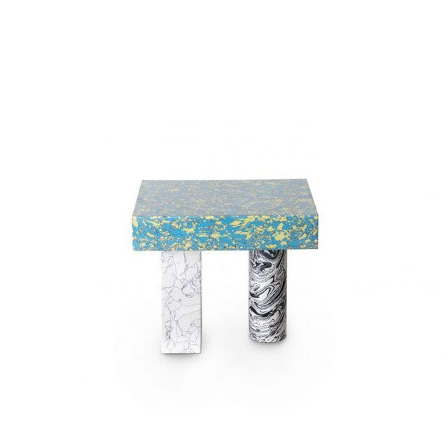 Blue Tom Dixon Swirl Low Side Table For Sale - Image 8 of 8