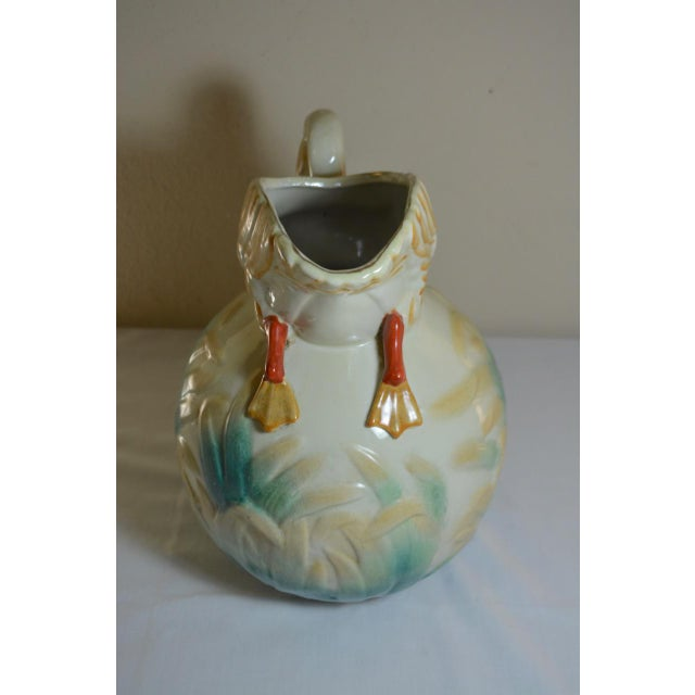 Vintage Large Majolica Swan Shaped Pitcher For Sale In Austin - Image 6 of 11