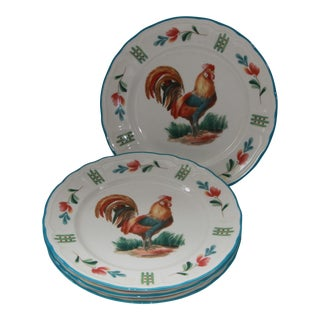Red Rooster by Noritake Epoch Dinner Plates - Set of 4