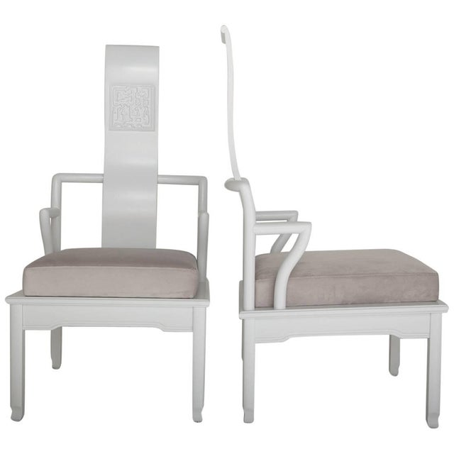 Low Asian Inspired Accent Chairs in the Manner of James Mont - A Pair For Sale - Image 11 of 11