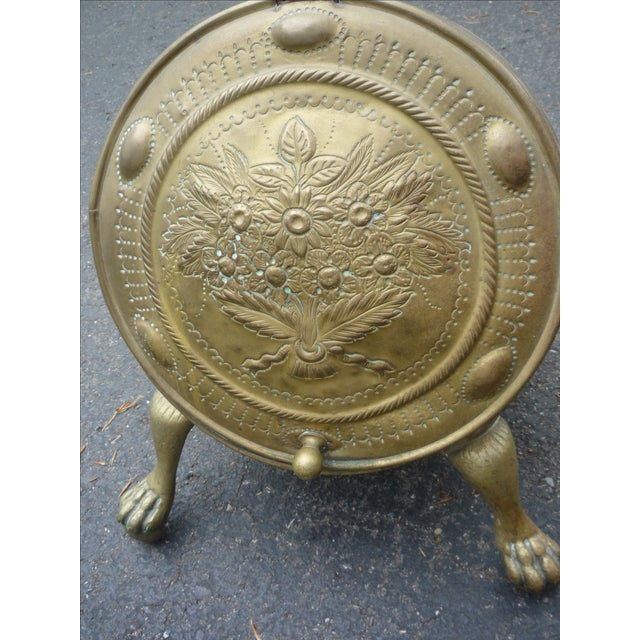 Antique Brass Coal Scuttle - Image 3 of 7