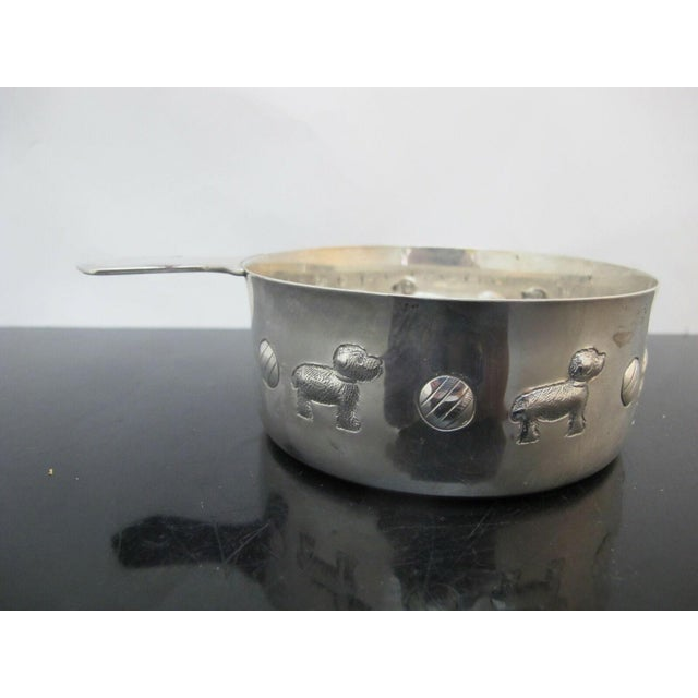 Children's Tiffany & Co. Sterling Silver Baby Porringer Bowl with Dog & Ball Motif For Sale - Image 3 of 7