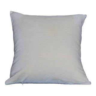 Contemporary Ivory Cotton Luxurious Velvet Pillow For Sale