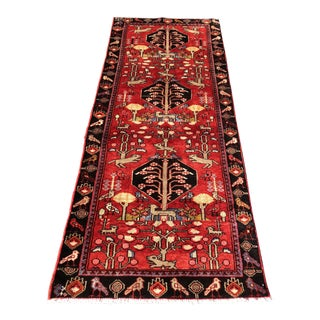 "Persian Hosenibad Rug - 3'4"" x 7'10"" For Sale"