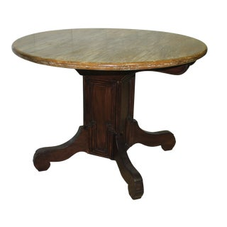 Traditional Wooden Round Breakfast/Game/Center Table For Sale