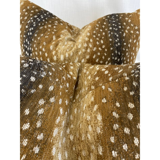 """Transitional Antelope Print Chenille 22"""" Pillows-A Pair For Sale - Image 3 of 5"""