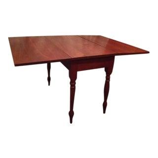19th Century Americana Walnut Drop Leaf Table For Sale