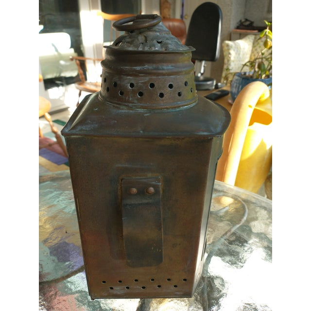 Mid 20th Century Copper Nautical Lanterns - a Pair For Sale In Jacksonville, FL - Image 6 of 13
