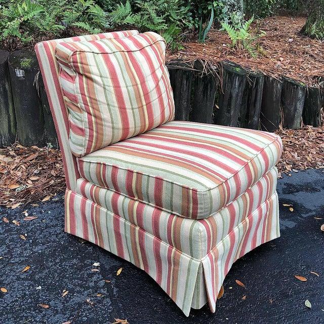 Orange Modern Vanguard Furniture Down Filled Slipper Chair For Sale - Image 8 of 8