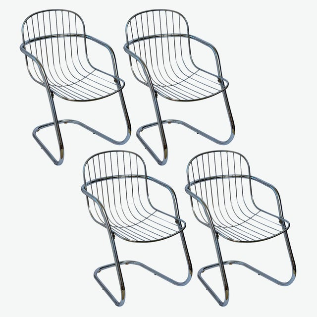 Italian Tubular Chrome Cantilever Chairs - Set of 4 For Sale - Image 10 of 10