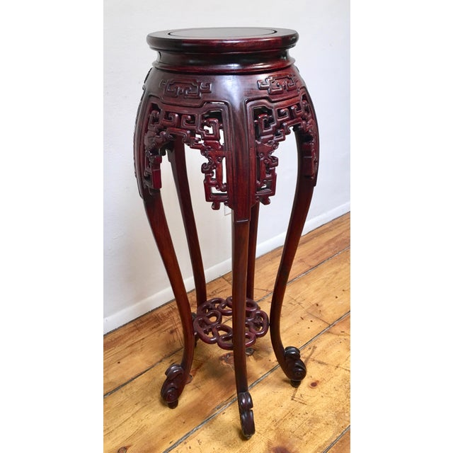 Wood 1940s Chinese Rosewood Pedestal Table For Sale - Image 7 of 7