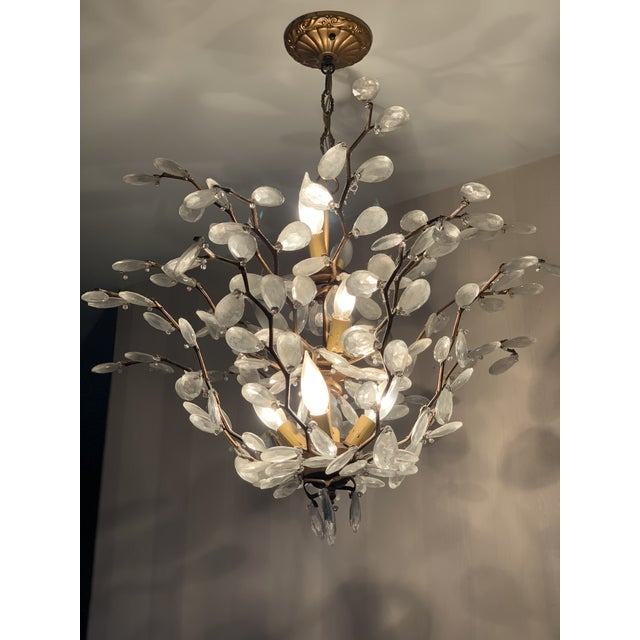 ABC Carpet & Home Crystal Chandelier For Sale - Image 4 of 4