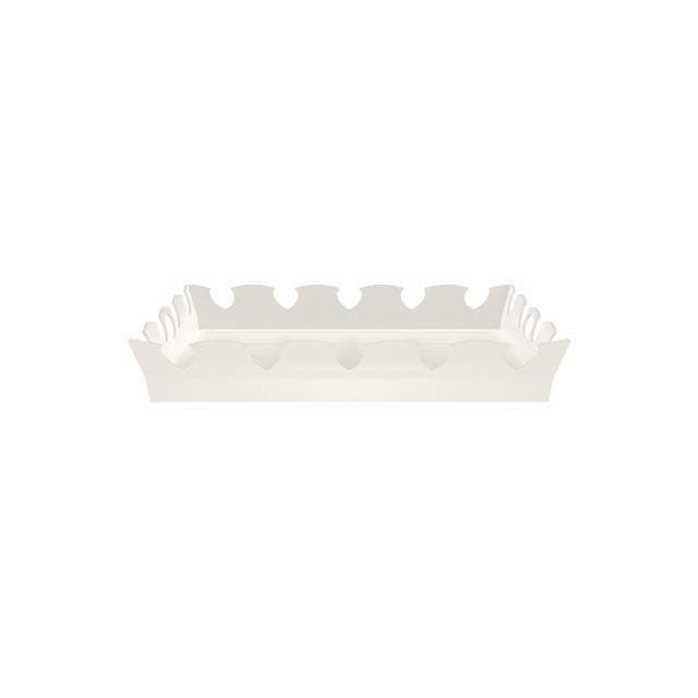 Oomph Ocean Drive Outdoor Tray, White For Sale In New York - Image 6 of 7