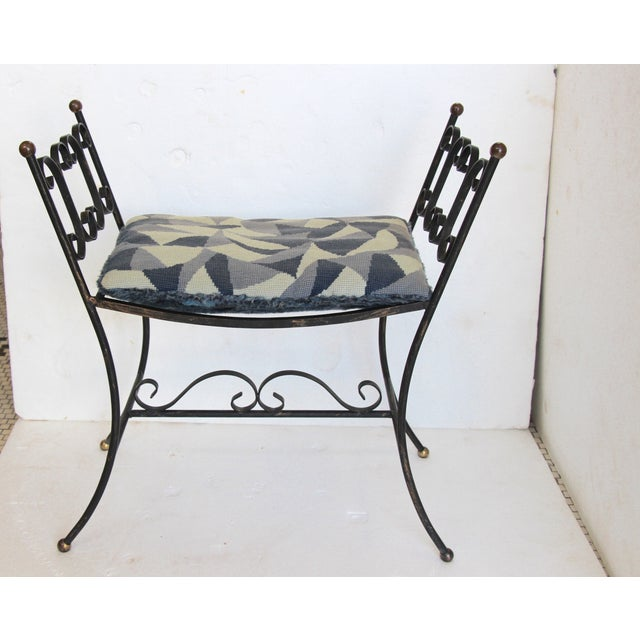 1960s Arthur Umanoff Style Iron Bench - Image 2 of 6