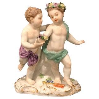 Meissen Figural Grouping of Flower Children For Sale
