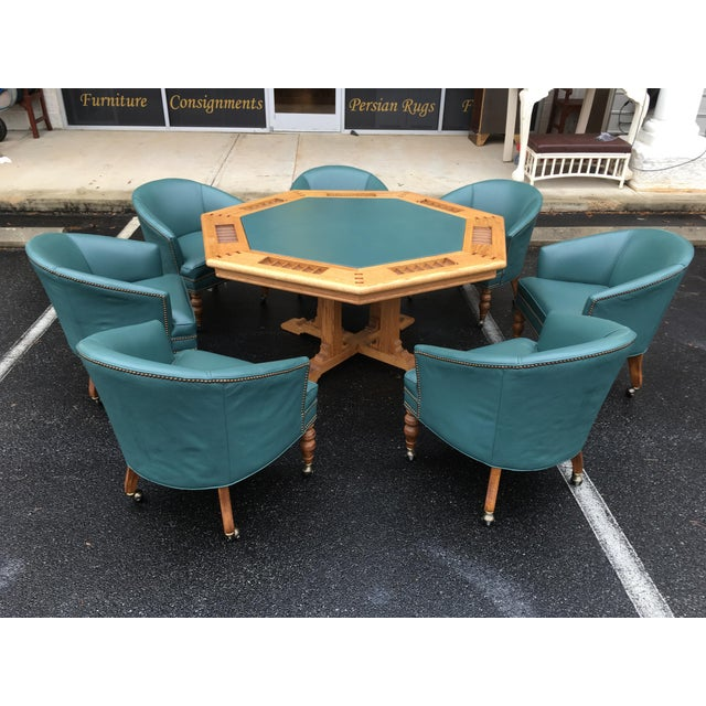 1980s Traditional Ethan Allen Poker Table Set - 8 Pieces For Sale - Image 13 of 13