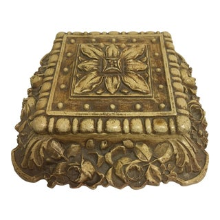 Syroco Floral Carved Box