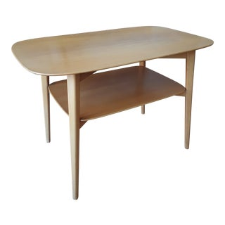 1940s Mid-Century Modern Elias Svedberg for Nordiska Kompaniet Blonde Wood Side Table For Sale
