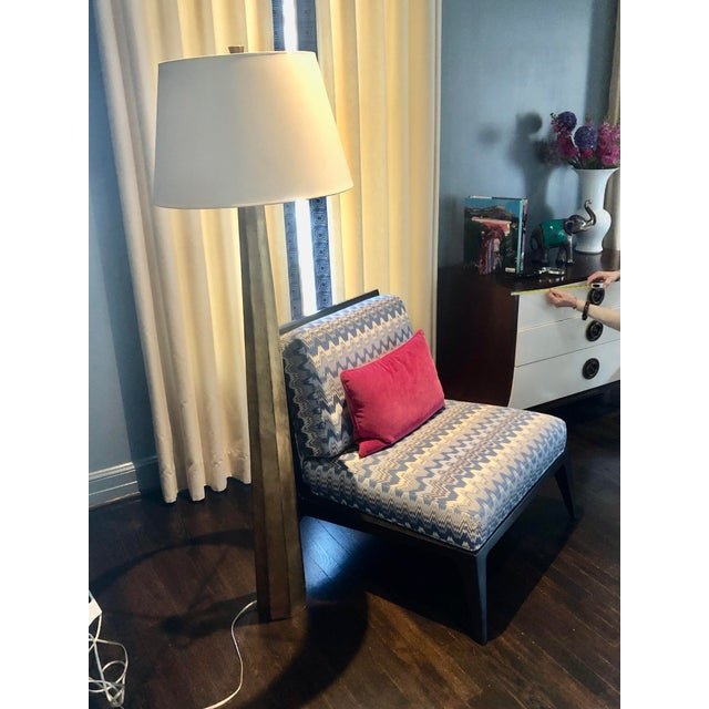 """Circa Fluted Spire Floor Lamp 60.5"""" max h 18.5"""" max shade diameter On Circa now $1149 Height: 60.5"""" Width: 19"""" Base: 6.5""""..."""