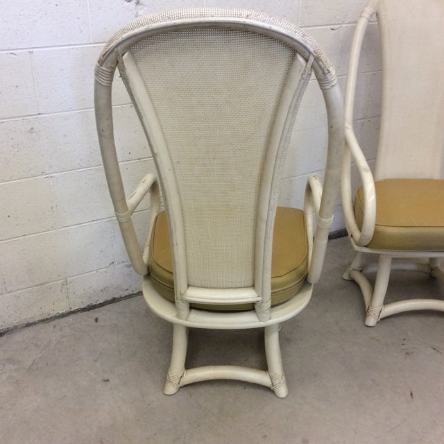 Funky High Back Bamboo Lounge or Dining Chairs For Sale - Image 5 of 11