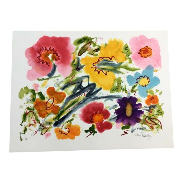 Mid Century Modern Unframed Cosmic Feeling Helen Covensky Hand Signed Lithograph For Sale