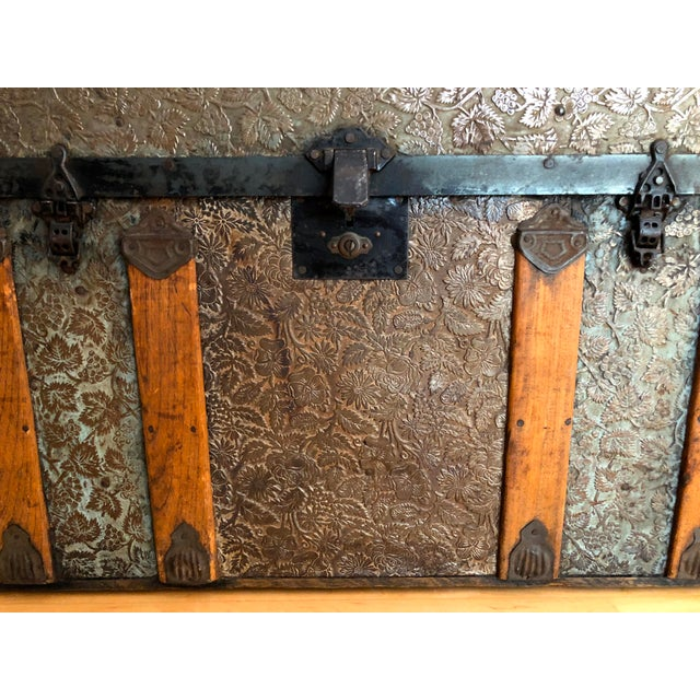 Late 19th Century Late 1800s Irish Dome Top Carriage Trunk Chest For Sale - Image 5 of 13