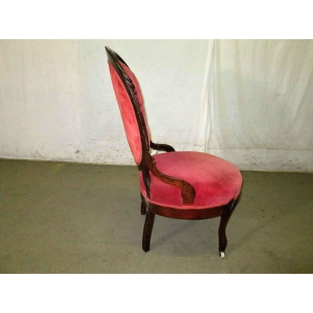 French Tufted Back Parlor Chair For Sale - Image 5 of 6