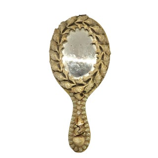 Victorian Shell Hand Mirror for Vanity For Sale