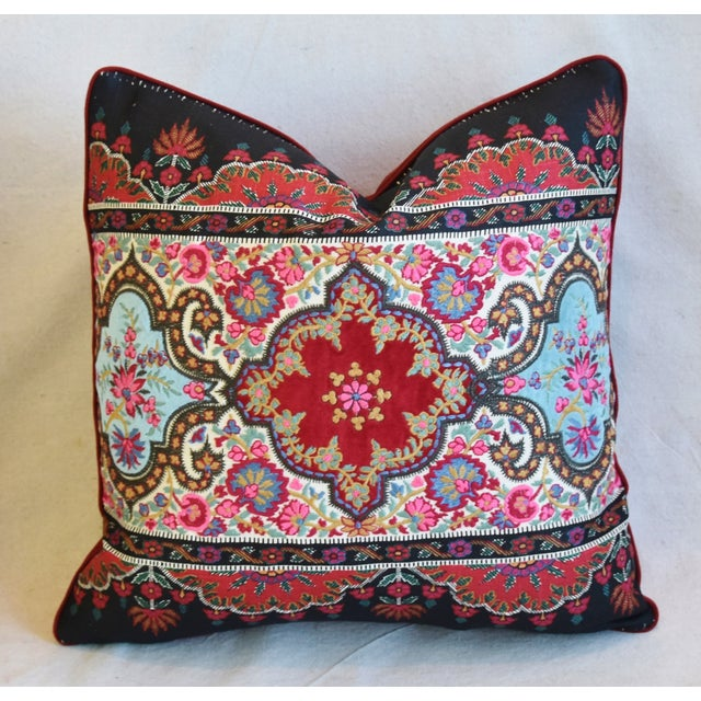 """Pierre Frey French Embroidered Feather/Down Pillows 18"""" Square - Pair For Sale - Image 11 of 13"""
