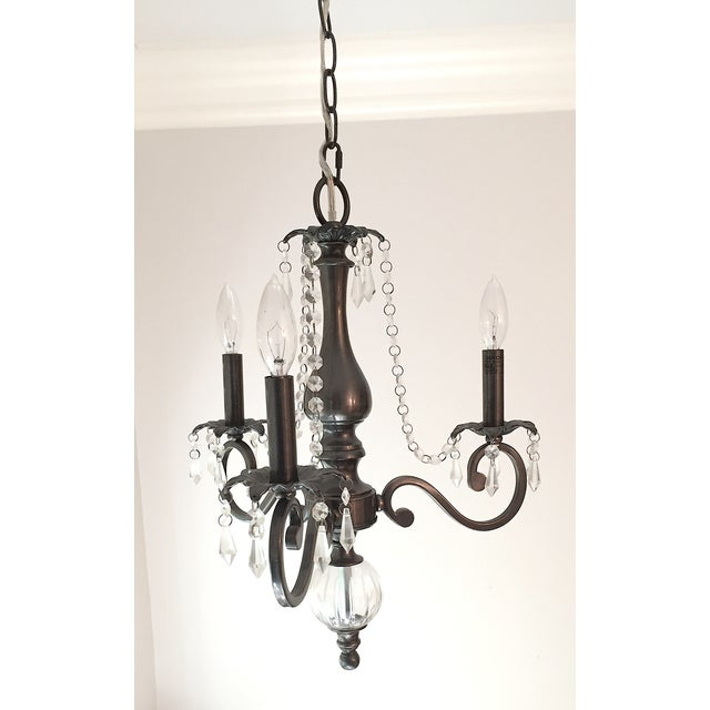 3 Arm Chandelier with Crystal Details - Image 4 of 6