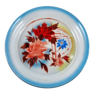 20th Century Chinese Enamel Floral Large Platter For Sale