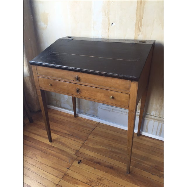 Italian Small Italian Antique Writing Desk For Sale - Image 3 of 8