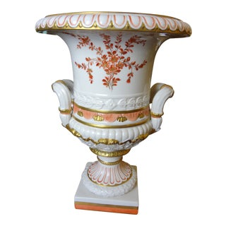 Ermete Agostinelli for Bonwit Teller Porcelain Urn For Sale