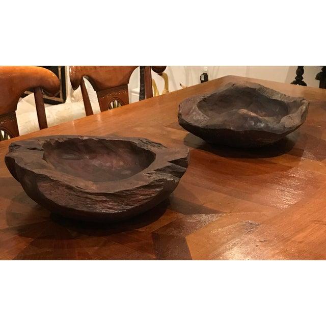 Teak Wood Bowls - A Pair - Image 2 of 12