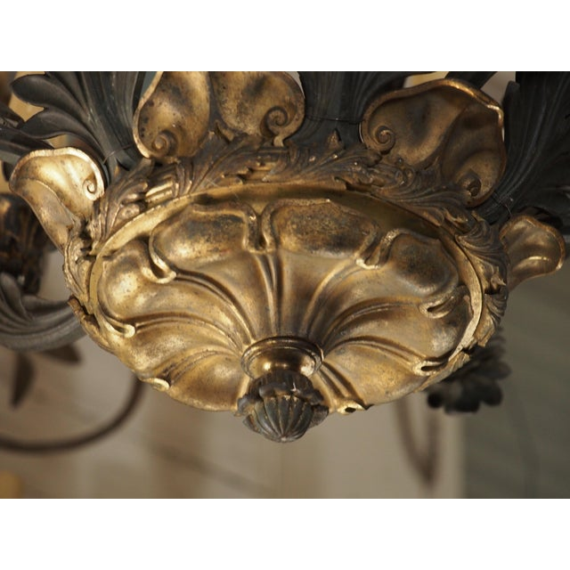 19th Century French Bronze Empire Chandelier - Image 3 of 9