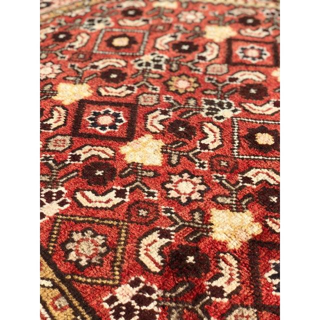 Brick Red 1960s Vintage Persian Karajeh Runner Rug - 3′7″ × 10′6″ For Sale - Image 8 of 13