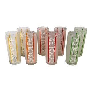 """Vintage Libby Glass """"Cooler"""" Highballs - Set of 8 For Sale"""