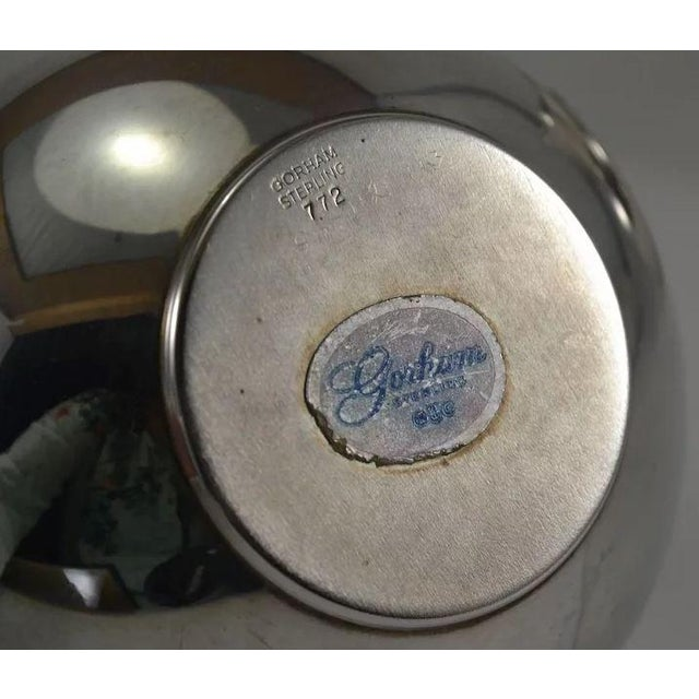Metal Gorham Sterling Silver Mid Century Modern Sugar & Creamer 772 773 For Sale - Image 7 of 10