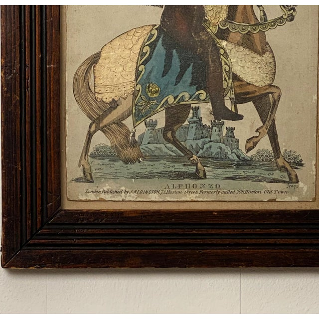 English Print of Knight on a Horse, England Circa Early 19th Century For Sale - Image 3 of 5
