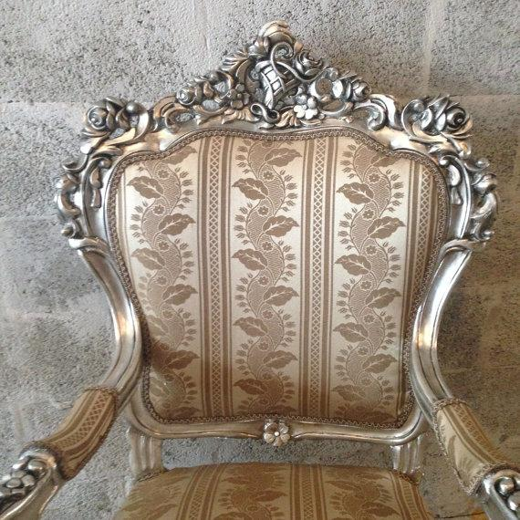 Italian Baroque Chairs in Gold Leaf - Pair - Image 3 of 5