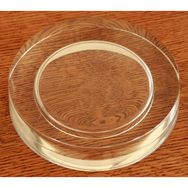 Ward Bennett Art Glass Wine Bottle Coaster - Image 7 of 9
