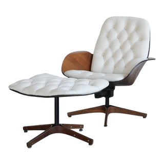 Plycraft Mrs Chair Lounge and Ottoman For Sale
