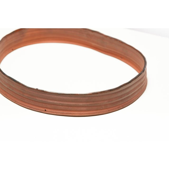 """Brick Red Yokky Wong """"Cycles"""" Series Wall-Mounted Porcelain Ring Sculpture For Sale - Image 8 of 12"""