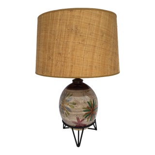 Vintage Mid-Century Raymor Pottery Lamp For Sale