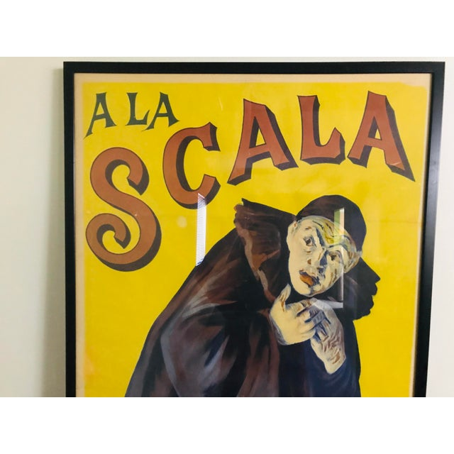 French Antique French a La Scala Mévisto Framed Poster For Sale - Image 3 of 11