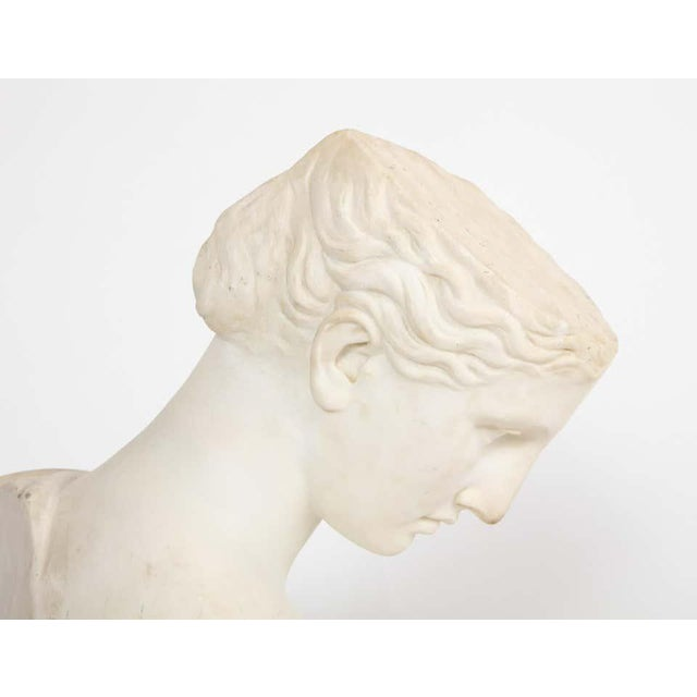 19th Century Antique Italian Neoclassical Marble Bust of Psyche, by Giuseppe Carnevale For Sale - Image 5 of 13