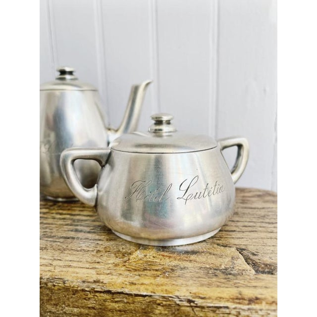 Antique Silver Plated Childs Tea Set From Hotel Lutetia Paris For Sale - Image 12 of 13