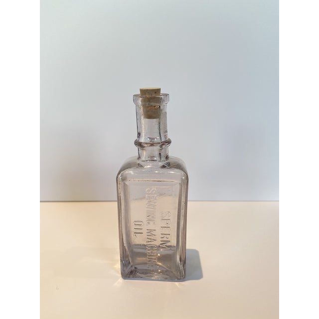 Vintage Glass Apothecary Bottles - Set of 7 For Sale In Los Angeles - Image 6 of 11